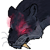Pixel Hunded Cat Black Icon by MoonlostArts