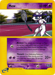 GenCon03 Promo5 - Tennis Mew by pokemonaaah