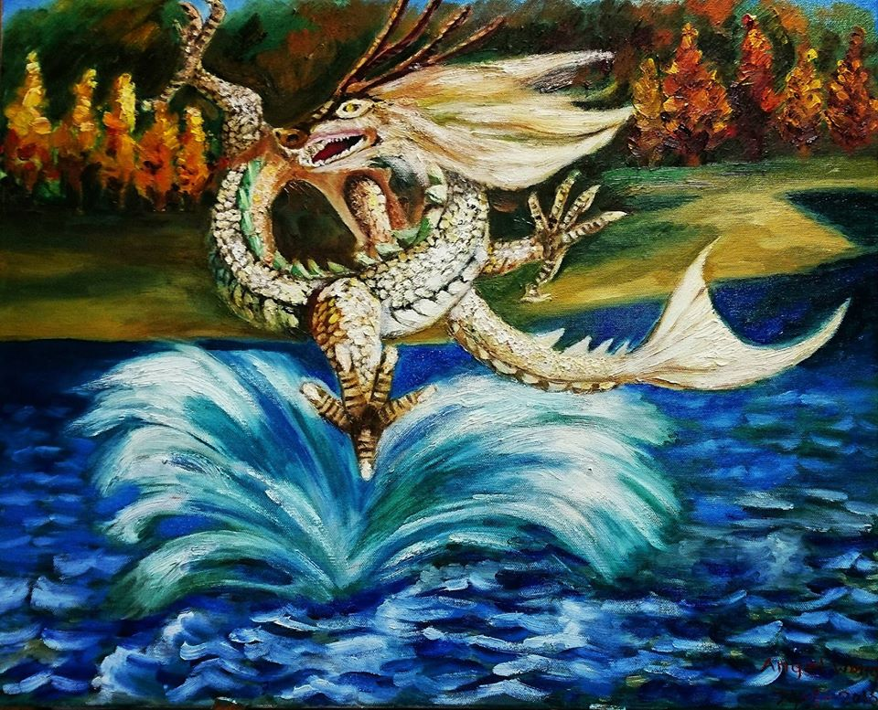 Koi carp dragon foo kon yi by mountainfern on deviantart for Live dragon koi fish