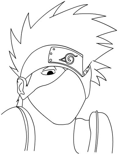 how to draw naruto face easy