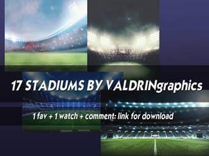 17 stadiums by valdringraphics