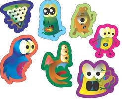 Sticker love-monster by Ockam