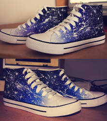 Custom Spacey Shoes! by dotLinks