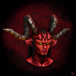 Demon Head by Samholy