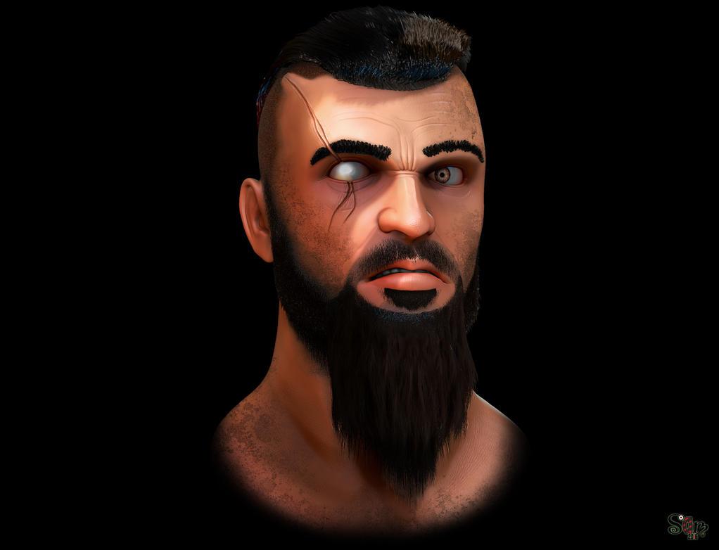 Bearded warrior by Samholy