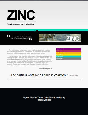 Hype page Zinc by adictives