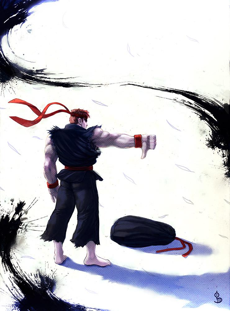 Dark Ryu by funshark