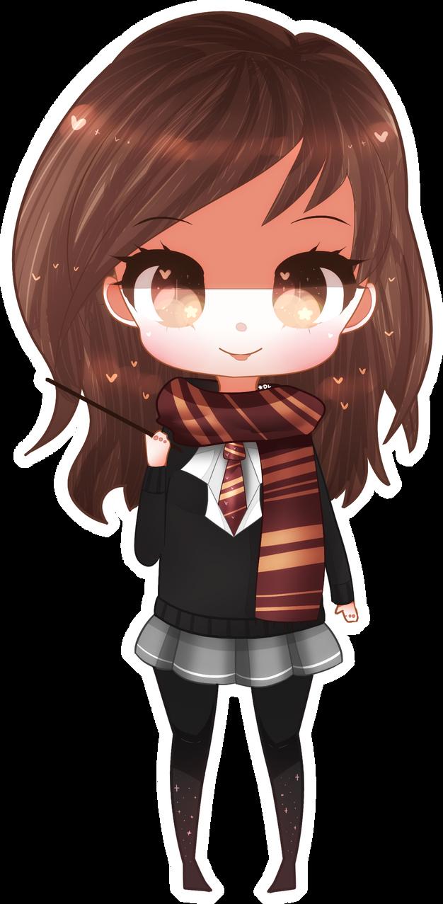 Chibi Hermione by Skyyyyyyy