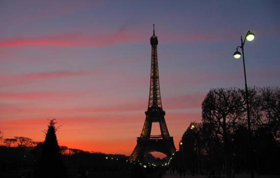 Paris,Eiffel Tower sunset