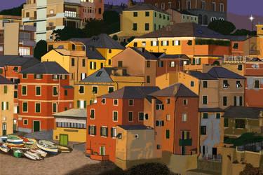 Boccadasse,Genoa,Italy