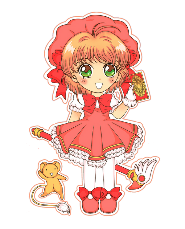 Cardcaptor Sakura Chibi - #1 No BG by PockyCrumbs