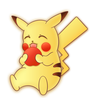 Pikachu Apple Nom