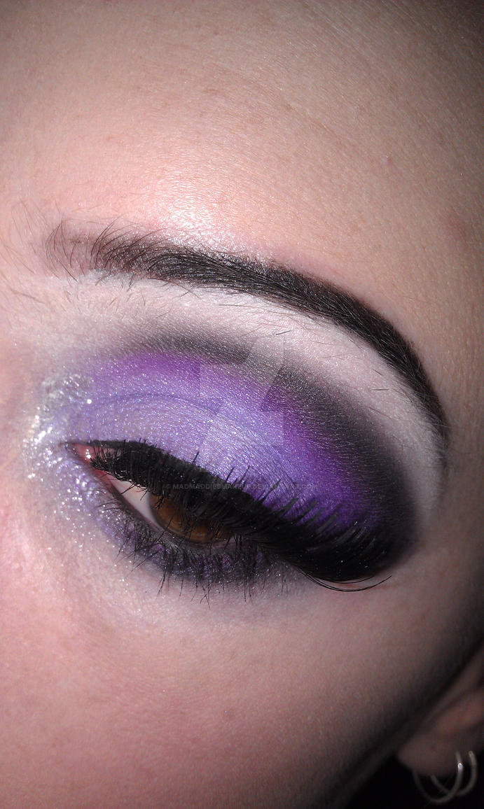 Purple and black by madmaddiesmakeup