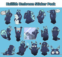 Kaillith Umbreon Sticker Pack