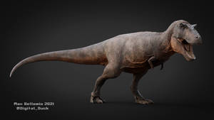 Tyrannosaurus rex -3D Model Paleoart Updated