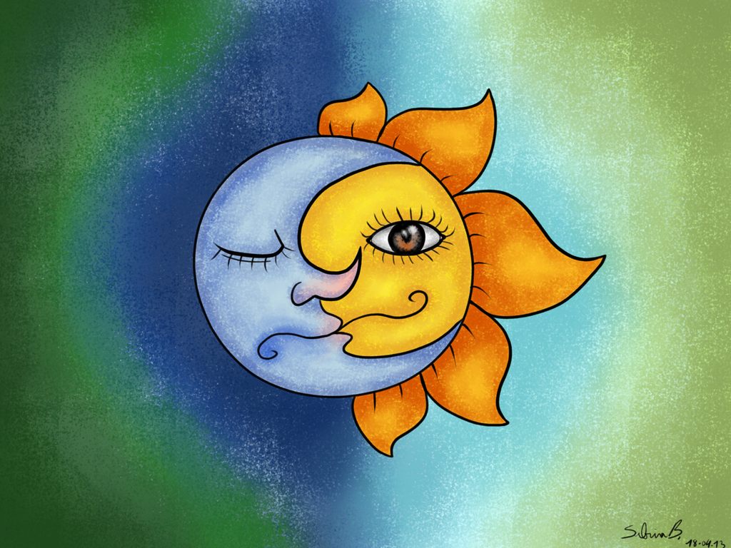 Sol y luna by sabrib on deviantart - Sol y luna decoracion ...