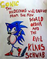 Sonic The Hedgehog  by Uproariousorake