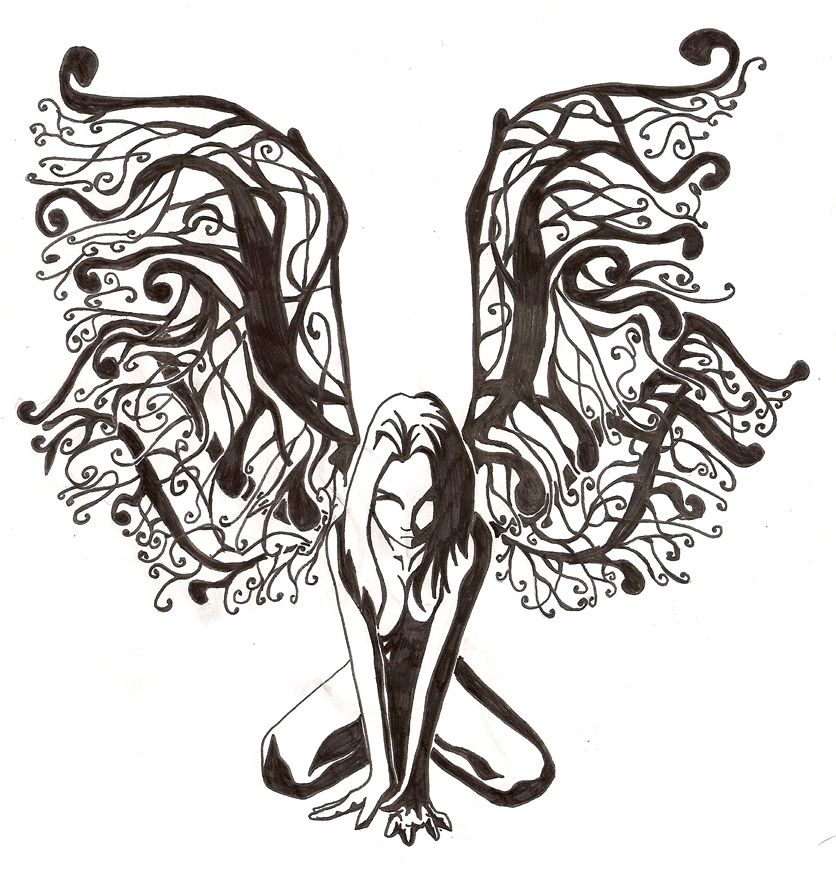 fairy tattoo design by saavke on deviantart. Black Bedroom Furniture Sets. Home Design Ideas