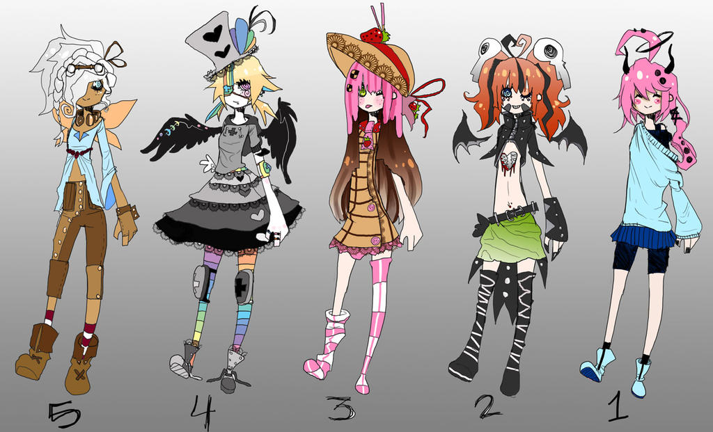 =Rainbow Girls Adoptable Set= by HariSaysMeh