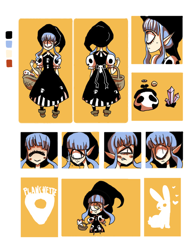 Planchette Character Sheet by HariSaysMeh