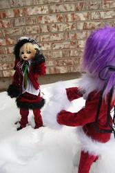 Snowball fight by FilthyWarumono