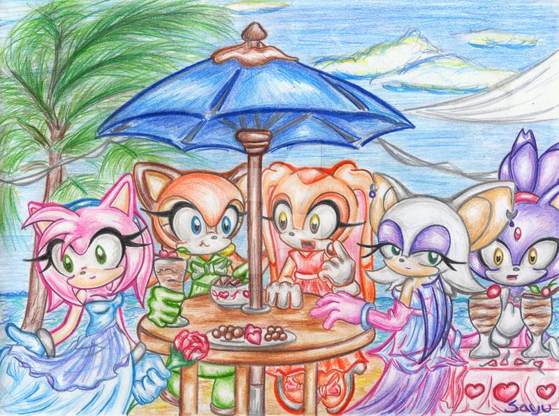 Sonic Girls: Party by Sayuri-Amaya