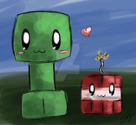 Minecraft: Creeper and TNT babbys
