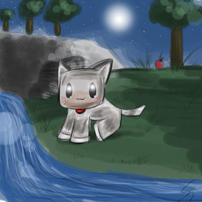 Minecraft: Babby Wolf :3 by Sayuri-Amaya
