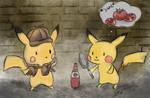 -Detective Pikachu and Pikachu-