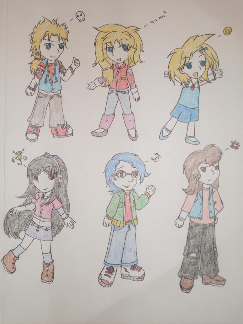 Springfield Chibi Teens 1 by xxHTxRoyaltyxx