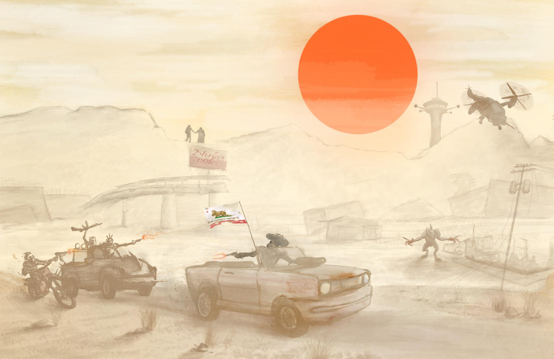 Meanwhile in the Mojave Wasteland by NotisKate