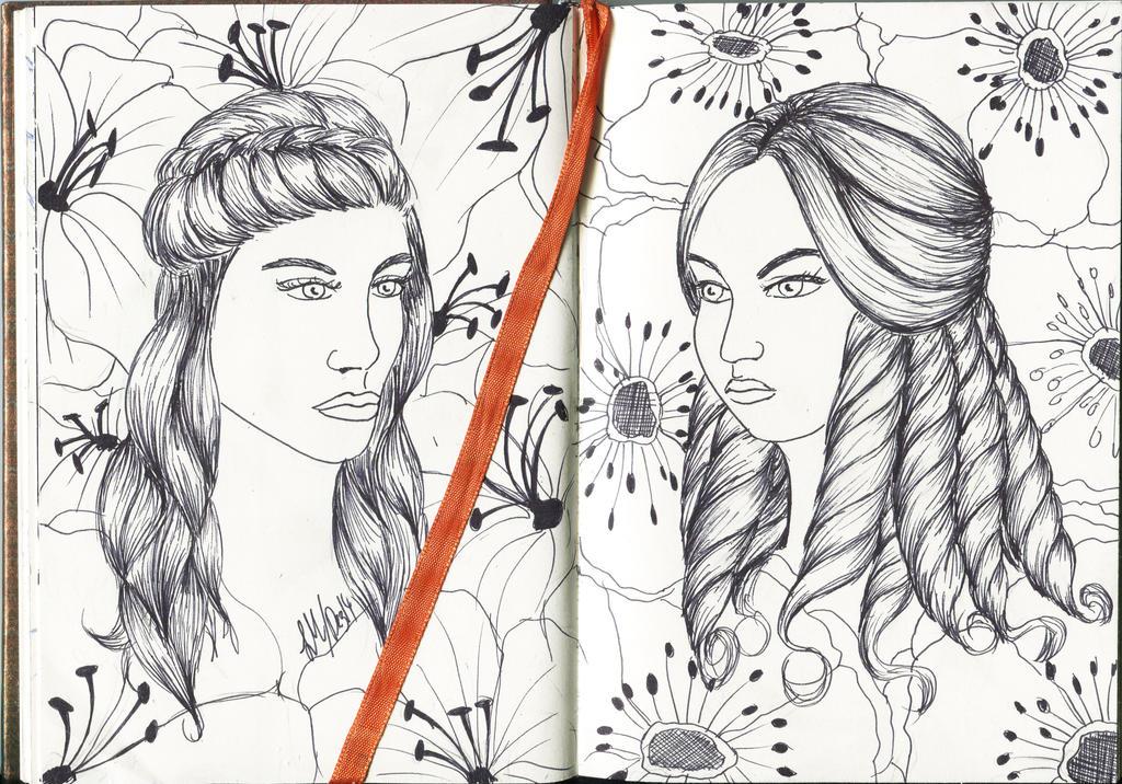Two Flowers of Karma by lucykanti