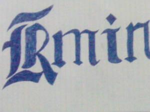 Rmin Graffity on Paper