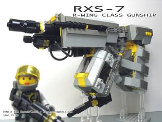 RXS-7 - R-Wing Class Gunship by krushnine