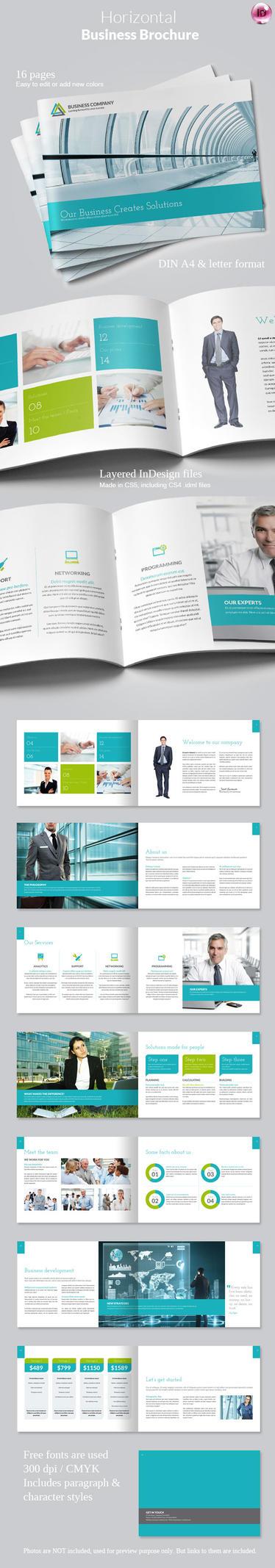 Horizontal business brochure by imagearea on deviantart for Horizontal brochure template