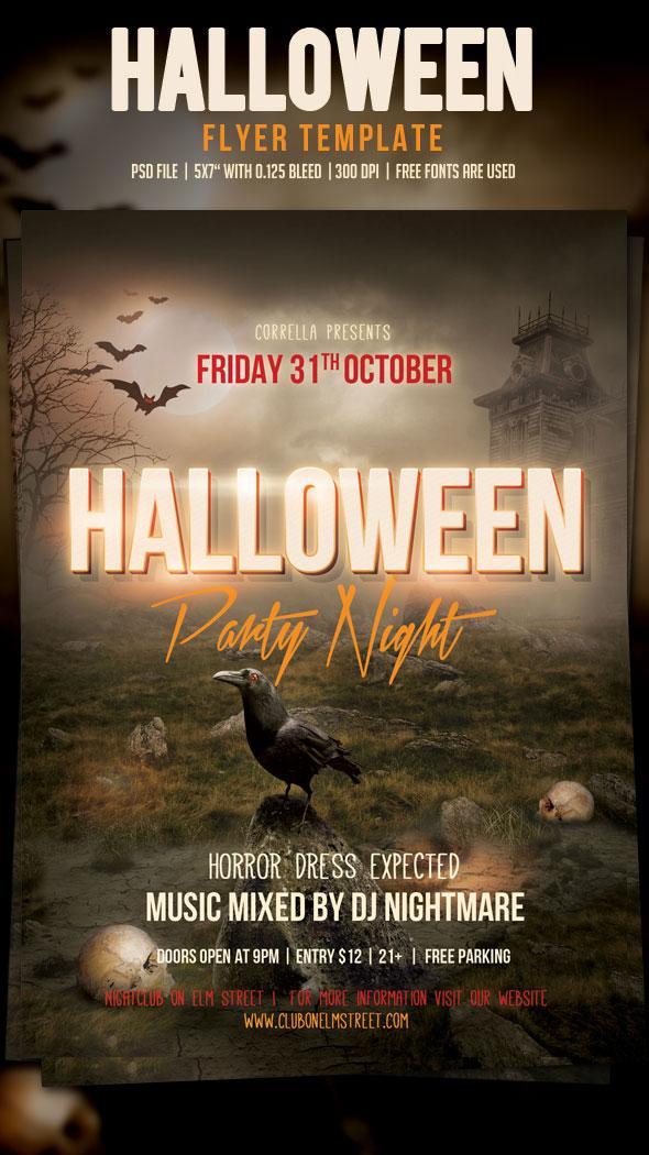 Halloween Party Flyer by imagearea