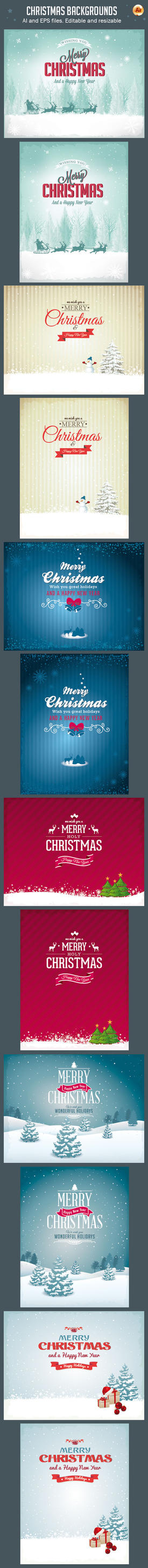 Vector Christmas Backgrounds Vol.2 by imagearea