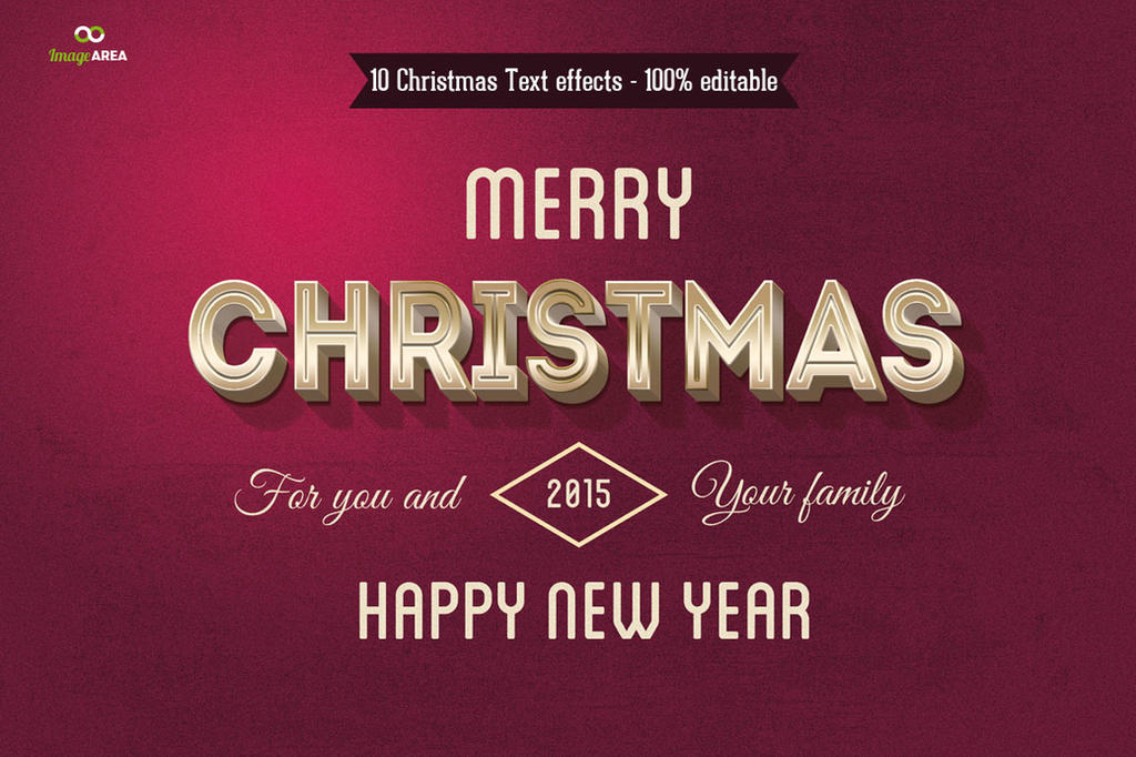 10 Christmas Text Effects by imagearea