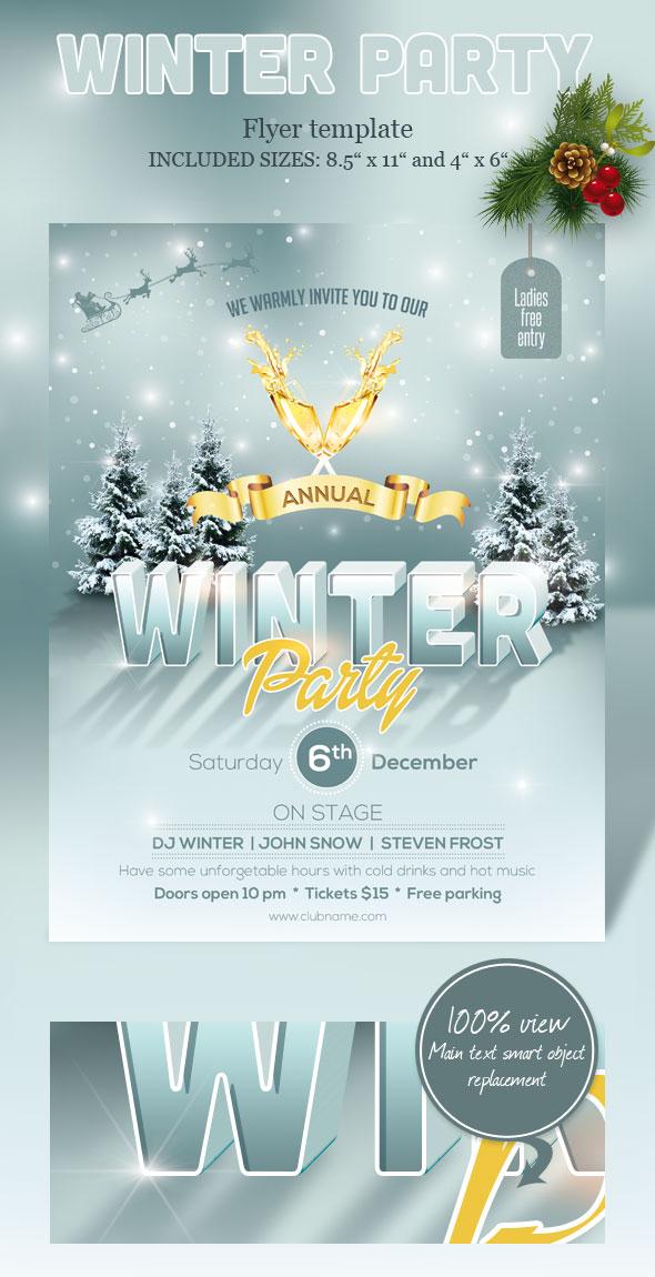 Winter Party Flyer by imagearea