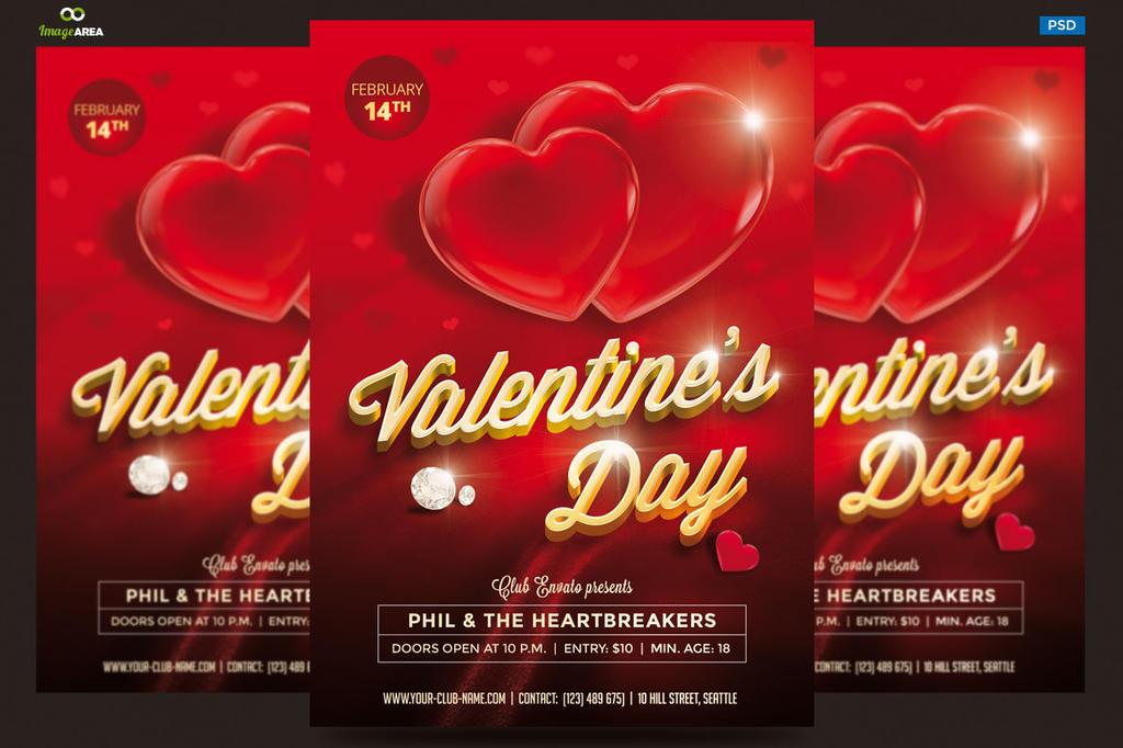 Valentine Party Flyer by imagearea