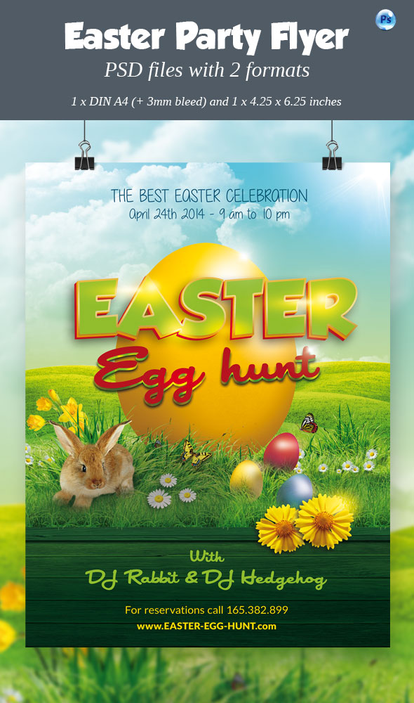 Easter Party / Egg Hunt Flyer by imagearea