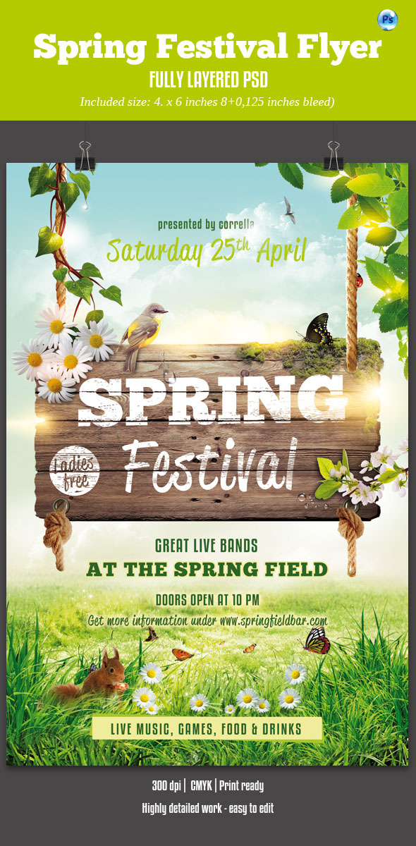 Spring Festival Party Flyer by imagearea