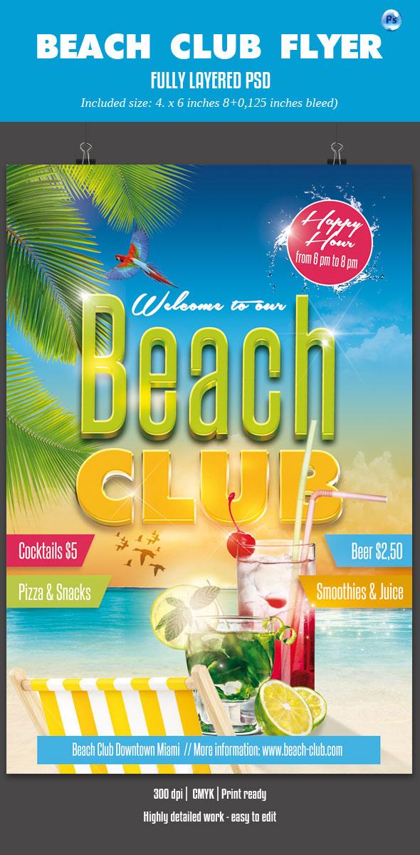 Beach Club Flyer by imagearea