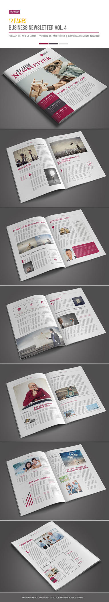 Business Newsletter Vol. 4 by imagearea