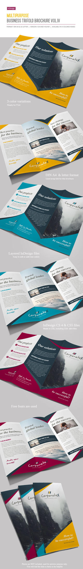 Business Trifold Brochure Vol. IV by imagearea
