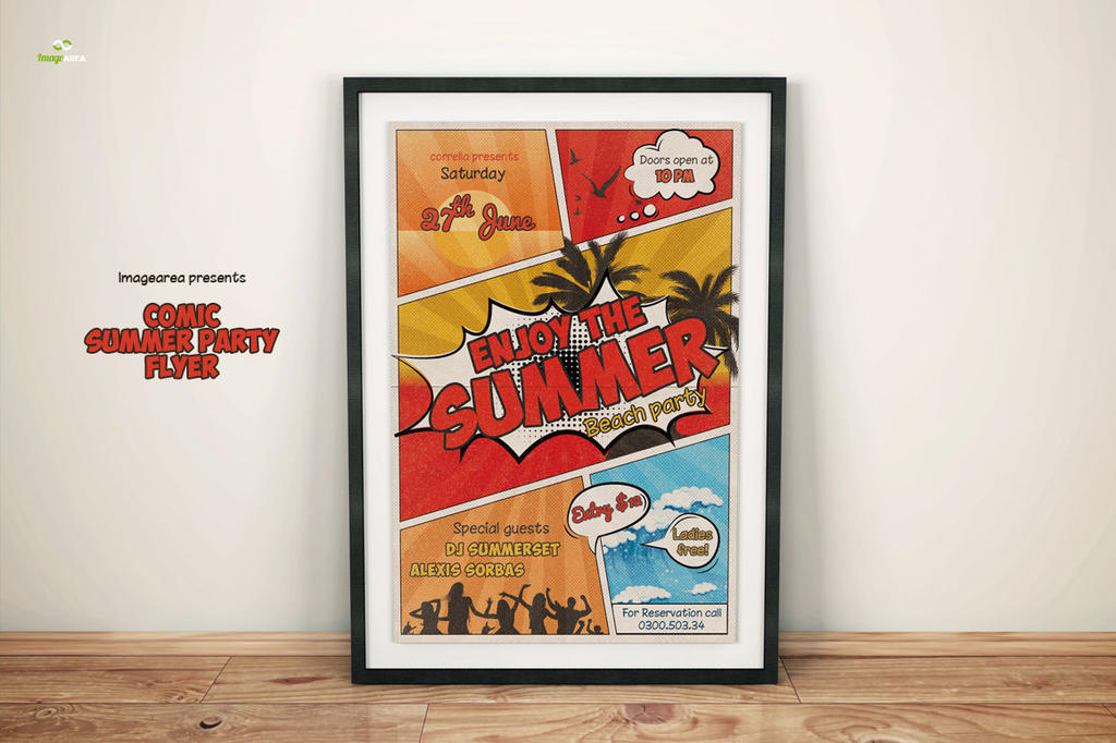 Comic Summer Flyer by imagearea