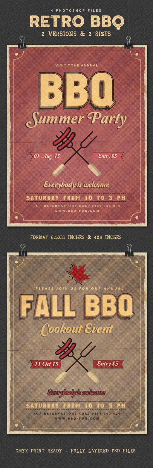 Retro BBQ Flyer by imagearea