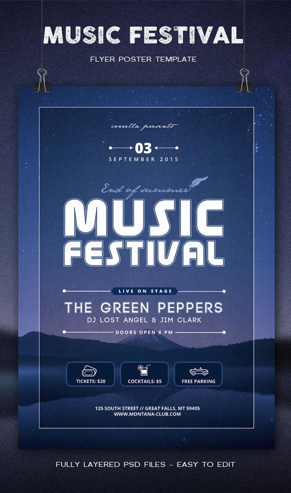 Music Festival Poster by imagearea