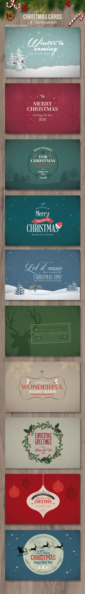 Vintage Christmas Cards by imagearea