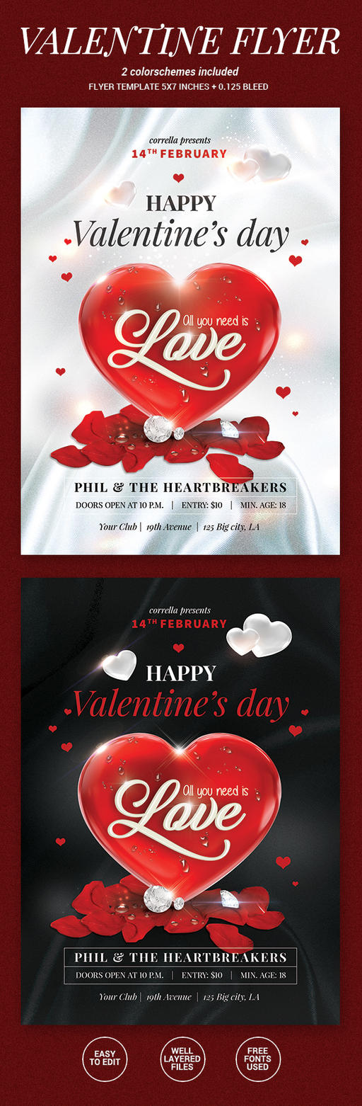 Valentine Party Flyer by imagearea